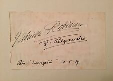 GABRIELLE ROBINNE AND ALEXANDRE FRENCH FILM STAR AUTOGRAPHS