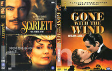 SCARLETT (1994) 2-Disc + GONE WITH THE WIND (1939) 2-DVD SET / DVD, NEW