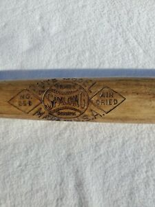 Vintage Spalding wood bat ,boys model No. 25B,28""