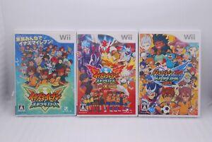 Nintendo Wii 3Games Inazuma Eleven Strikers, 2012, Go Extreme 2013 Japan Soccer