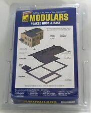 Walthers HO Scale Modulars Peaked Roof & Base Kit NEW 933-3720
