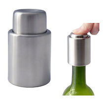 1x Stainless Steel Reusable Freshen Vacuum Bottle Red Wine Stopper Cap Sealed