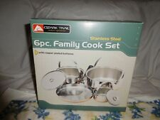 Ozark Trail 6pc Family Cook Set  Stainless Steel