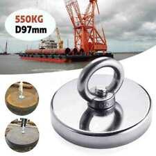 500kg D97mm Neodymium Fishing Salvage Magnet Hunt Strong Metal Treasure