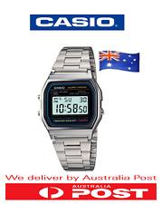 BRAND NEW CASIO A158W CLASSIC DIGITAL ALARM SILVER WRIST WATCH RETRO VINTAGE