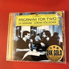 Paganini For Two by Gil Shaham Sollscher 24K Gold Audiophile CD Japan Violin