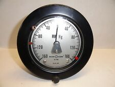 Large Vintage Instrument Laboratory Meter Measures MM Hg Pressure