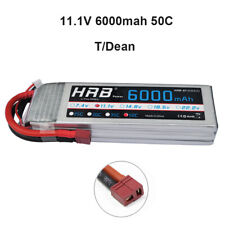 HRB 11.1V 3S 6000mAh Lipo Battery 50C T for Traxxas Slash 4x4 1/10 Scale Car CA