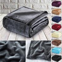 Luxury Fleece Blankets Super Soft and Warm Double Bed Blanket Throw 150 x 200 cm