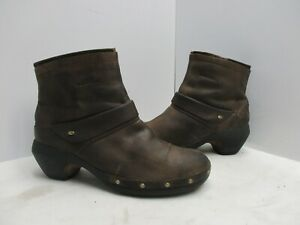 Merrell Luxe Mid Bitter Chocolate Nubuck Leather Zip Ankle Boots Womens Size 8.5