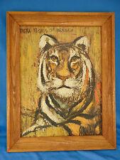 Oil painting Tigris of Bengala signed Arnau southeast Asian jungle tiger animal