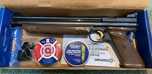 Boxed Crossman Airgun American Classic 1377 Pump Pistol Pellet .177 w/ Extras!