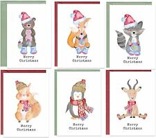 More details for 48 recycled, eco friendly, cute animal christmas cards
