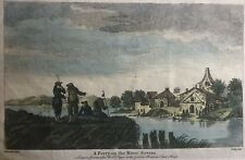 c.1755 Antique Print; A Ferry on the River Severn, by Pillement , Robert Sayer