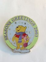 DLR Cast Member Seasons Greetings 2003 Pooh And Piglet  Disney Pin (B6)