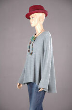 2 PREMIUM Oversize Pullover Tunika A-Linie Top Jacke Shirt Capestyle 44 46 48