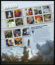 Celebrar el siglo década de 1980 Hoja de quince 33 Centavos Estampillas Postales Scott 3190