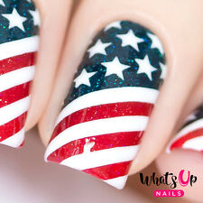 American Flag Stencils for Nails, Nail Stickers, Nail Art, Nail Vinyls