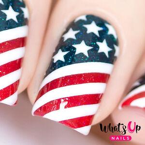 American Flag Stencils for Nails, Nail Stickers, Nail Art, Nail Vinyls