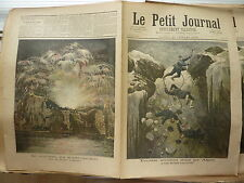 PETIT JOURNAL- 1892 N° 87 accident ALPES grande Casse / feu d'artifice PARIS