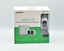 Netgear Arlo Pro 2 VMS4230P kabelloses Sicherheitssystem  2 Full-HD-Kameras NEU