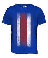 Costa Rica Bandera Desteñida Hombre Camiseta Top Camisa Regalo de Fútbol