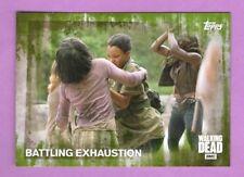 Walking Dead Season 5: Mold Parallel Card #58 Battling Exhaustion 12/25