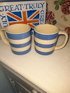 Two T G Green Cornishware Mugs Lovely Condition