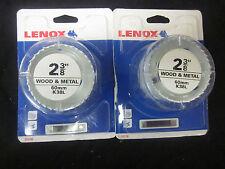 "Lot Of ~ 2 ~ Lenox 2-3/8"" 60mm Hole Saw Cutter Wood & Metal #12178 Long Life"