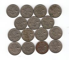 1953 to 1967 6d SIXPENCE six pence Queen Elizabeth II ALL 15 coins FULL SET