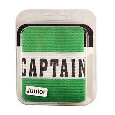 Precision Training Captains Armband Green Junior - Football Rugby Hockey Big