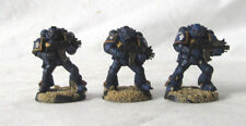 3 Warhammer 40,000 Space Marines Custom Painted by Pizzazz