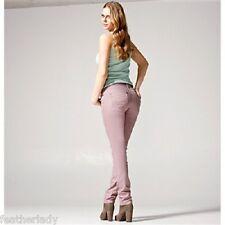 La redoute stretch DUSKY PINK stretch DENIM jeans skinny slim UK 4 EU 34 32L NEW