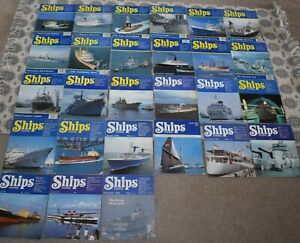 COLLECTION OF  SHIPS MONTHLY MAGAZINES . 1980s AND 1990s