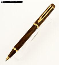 Waterman MAN 100 Ballpoint Pen in Fountainebleau Wood Havanna Brown - 1990's (2)