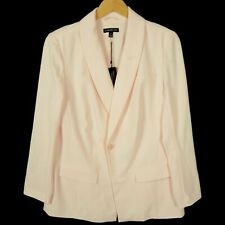 Lane Bryant Womens Blazer Jacket Size 14 Trailored Stretch Light Pink Stretch