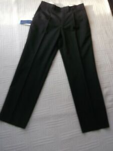 "BNWT   Club Class     size 34""     MENS DARK GREY TROUSERS  45% wool  31.5"" leg"