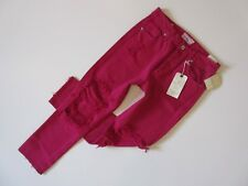 NWT Lucky Brand High Rise Tomboy in Lago Vista Raspberry Destroyed Jeans 2 / 26