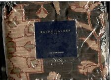 Ralph Lauren Harriman Brown Queen Bed Skirt Floral Rust Tan Beige New
