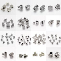 10-300pc Mixed Tibetan Silver Connector Spacer Bail Beads Charms Jewelry Finding