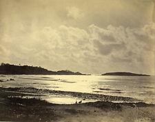 Photo Albuminé L. BouyerVagueBreakwater Wave Vers 1880