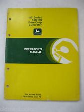 John Deere 85 Series Folding Row Crop Cultivator Operator'S Manual Om-N159523
