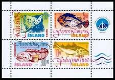 Iceland 1998 Fish, Lumpsucker, Cod, Wolf-fish & Skate Minisheet, MNH / UNM