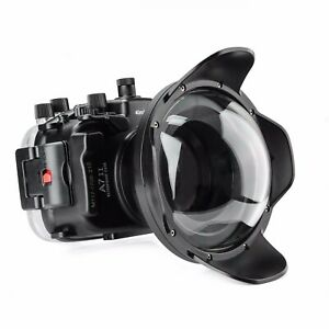 Meikon 130ft Underwater Camera Housing Kit for Sony A7II A7RII A7SII w/Dome Port