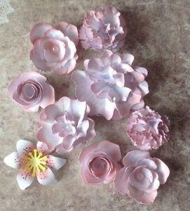 8pcs Lilac Handmade Paper Flowers-Gift Decor Scrapbooking Paper Craft
