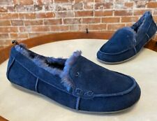 Vionic Navy Blue Suede Corinne Indoor Outdoor Orthodic Slipper Loafer New