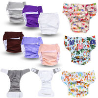 New Adult Washable Adjuatable Cloth Diaper Breathable Incontinence Nappy Pants
