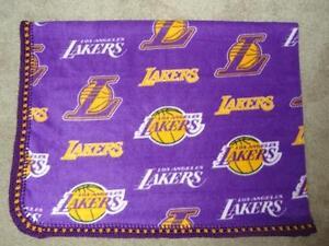 TODDLER/TWIN BLANKET - NBA LOS ANGELES LAKERS