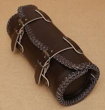 Moto Sac en cuir Rouleau d'outils Cuir Sac à outils harley cuir brun brown