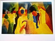 Woman With Yellow Jacket  August Macke Expressionist Painter 14x11 Offset Lith0